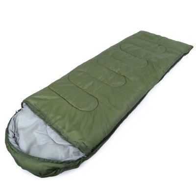 Buy ARMY GREEN Outdoor Cotton Camping Hooded Envelope Sleeping Bag for $22.54 in GearBest store