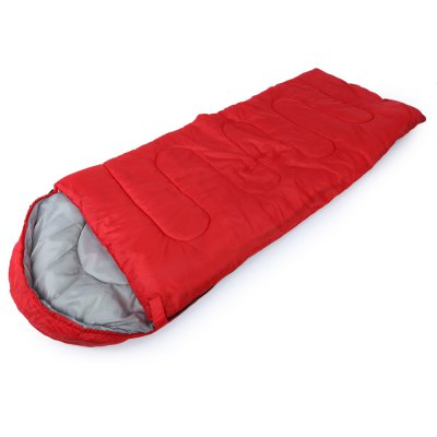 Buy RED Outdoor Cotton Camping Hooded Envelope Sleeping Bag for $21.08 in GearBest store