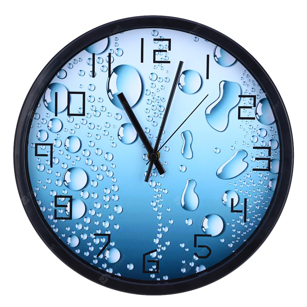 12 Inches 3D Water Drop Pattern Wall Clock