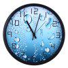 12 Inches 3D Water Drop Pattern Wall Clock - LIGHT BLUE