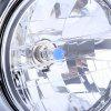 12V Motorcycle Crystal Round Headlight - SILVER