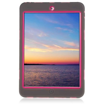 PC Tablet Case Silicone Warp-around Cover for iPad Mini 1 / 2 / 3