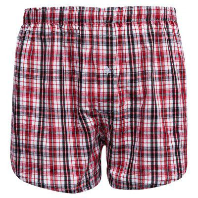 Plaid Pure Cotton Elastic Ultrathin Shorts