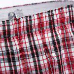 Plaid Pure Cotton Elastic Ultrathin Shorts for sale