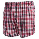cheap Plaid Pure Cotton Elastic Ultrathin Shorts