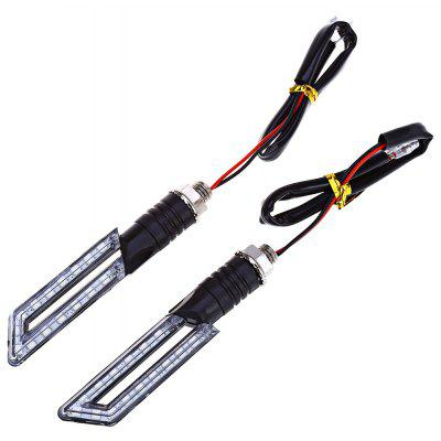 2pcs Motorcycle Turn Signal 15-LED Indicator Light