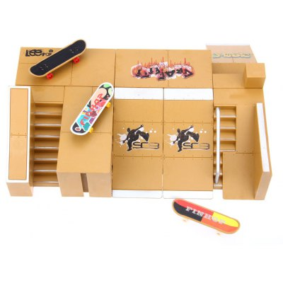 8pcs Skate Park Kit for Tech Deck Finger Board