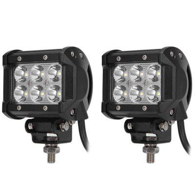 2PCS DC 9 - 30V 18W 1800LM 6500K LED Car Top Floodlight