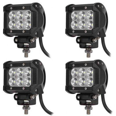 4PCS DC 9 - 30V 18W 1800LM 6500K LED Car Top Floodlight