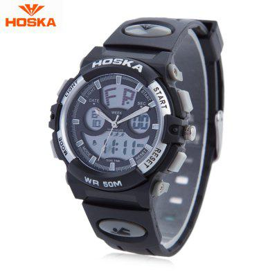 HOSKA HD005B Dual Movt Kid Sport Quartz Watch