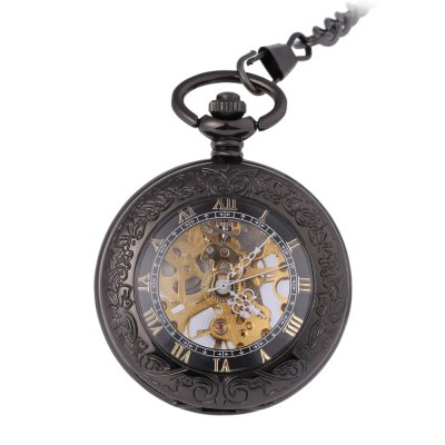 Retro Mechanical Hand Wind Pocket Watch