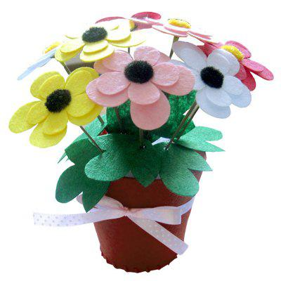 Children DIY Non-woven Artificial Flower Pot Toy
