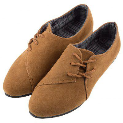 Lace Up Round Toe Suede Women Casual Flat ShoesLoafers<br>Lace Up Round Toe Suede Women Casual Flat Shoes<br><br>Closure Type: Lace-Up<br>Flat Type: Ballet Flats<br>Gender: For Women<br>Occasion: Casual<br>Outsole Material: Rubber<br>Package Contents: 1 x Pair of Women Flat Shoes<br>Pattern Type: Solid<br>Season: Spring/Fall, Summer<br>Shoe Width: Medium(B/M)<br>Toe Shape: Round Toe<br>Toe Style: Closed Toe<br>Upper Material: Suede