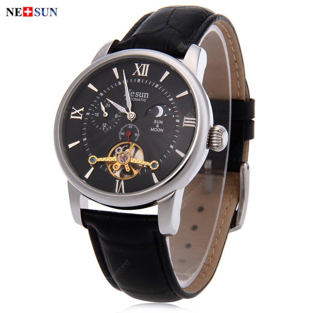 Nesun 9031 Male Automatic Mechanical Watch SILVER AND BLACK