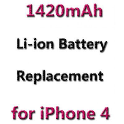 1420mAh Rechargeable Battery for iPhone 4