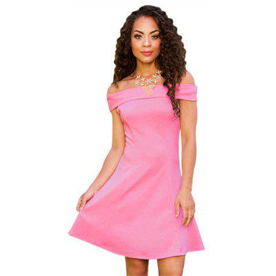 Buy LIGHT PINK Sexy Off The Shoulder A-line Women Mini Dress for $7.49 in GearBest store