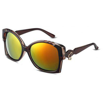 Color Coated Half Frame Sunglasses
