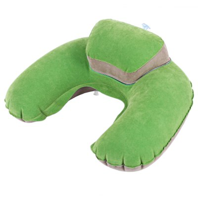 U-shaped Inflatable Noon Break Flocking Pillow