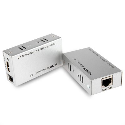 HDES01-IR 60M HDMI Extender Over Single Cat5E 6 Transmitter and Receiver