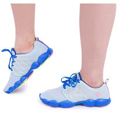Color Block Mesh Atmungsaktive Lace Up Sportschuhe