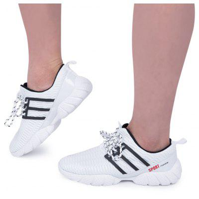 Mesh Breathable Lace Up Sports Shoes