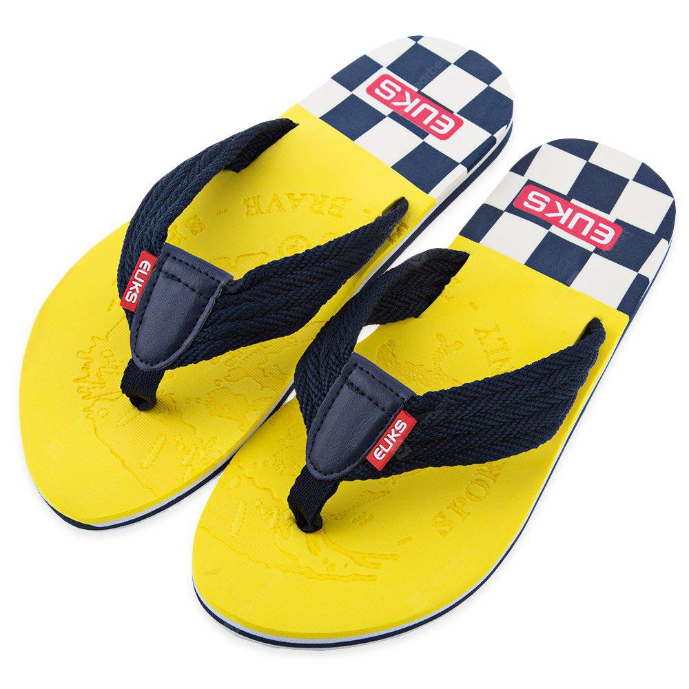 Color Block Skid Resistance Beach Flip Flops