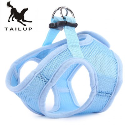 TAILUP Dog Soft Mesh Walking Strap Collar Vest Apparel