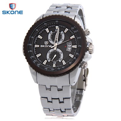 SKONE 7383BG Men Quartz Watch