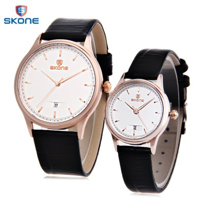 SKONE 9424B Couple Quartz Watch