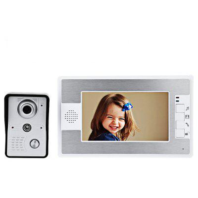 SY812MKW11 7 Inches TFT Screen Hands Free Video Interphone Doorbell Intercom
