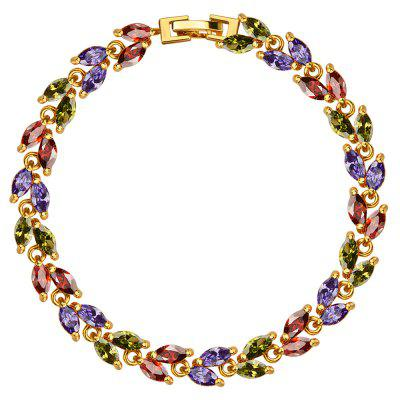Cubic Zirconia 18k Gold Plated Luxury Crystal Bracelet for Ladies