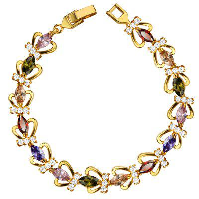 Zirconia Bracelet 18k Gold Plated Luxury Women Crystal Jewelry