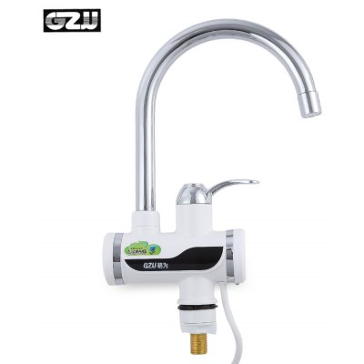 Buy SILVER GZU ZM D4 Tankless Water Heater Faucet for $41.98 in GearBest store