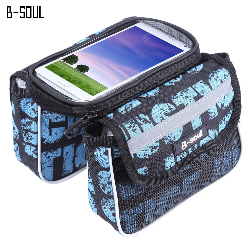 B - SOUL Ensemble De Bicyclette Pannier Saddle Touch Screen Phone Bag
