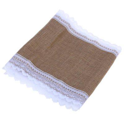 Burlap Lace Hessian Table Cloth Decoration