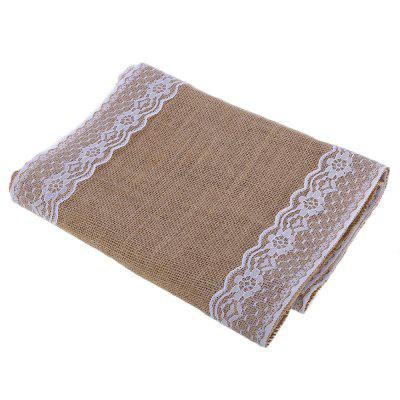 Burlap Lace Hessian Table Runner Decoration