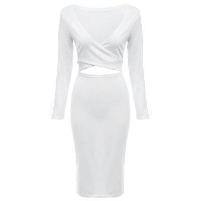 Sexy Criss-cross Hollow Out Women Bodycon Dress