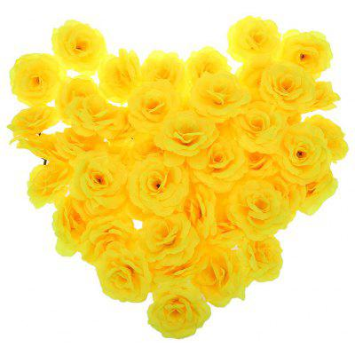 Buy YELLOW 50pcs Artificial Roses Decorative Flowers for $2.65 in GearBest store