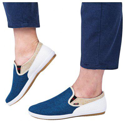 Flax Breathable Slip On Men Canvas Shoes
