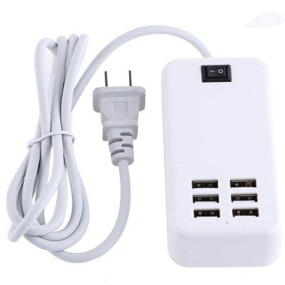 6 USB Port 15W 3A Smart Charging Adapter Power Strip
