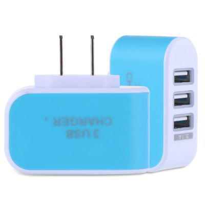 3 USB Ports 5V 3A Travel Charger Adapter