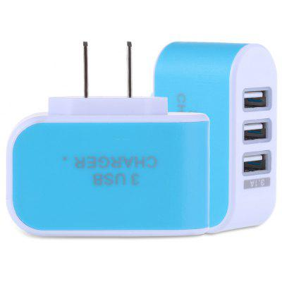 Gearbest 3 USB Ports 5V 3A Travel Charger Adapter