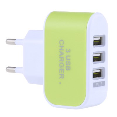 3 USB Ports 5V 3A Travel Charger AdapterChargers &amp; Cables<br>3 USB Ports 5V 3A Travel Charger Adapter<br><br>Package Contents: 1 x 3 USB Ports Coloured Multifunctional 5V 3A Universal Travel Charger Adapter<br>Package Size(L x W x H): 8.00 x 7.00 x 3.00 cm / 3.15 x 2.76 x 1.18 inches<br>Package weight: 0.043 kg<br>Plug Type: EU, US<br>Product Size(L x W x H): 7.10 x 5.90 x 2.30 cm / 2.8 x 2.32 x 0.91 inches<br>Product weight: 0.031 kg<br>USB Ports: 3