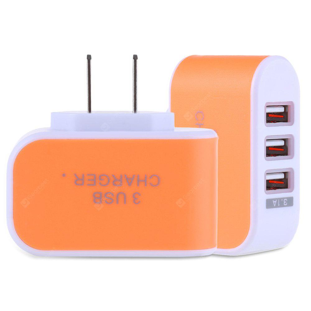 3 USB Ports 5V 3.1A Travel Charger Adapter