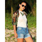 Women Jewel Collar Pure Color Knitted Blouse - OFF-WHITE