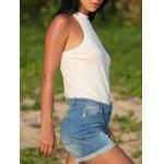 Street Style Low Waist Pure Color Denim Women Shorts deal