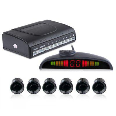 6 Parking Sensors Backup Radar Voice Alarm System
