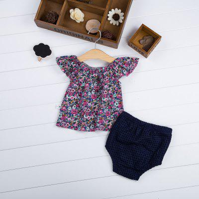 Girls Short Sleeve T-shirt Solid Color Shortsbaby clothing sets<br>Girls Short Sleeve T-shirt Solid Color Shorts<br><br>Closure Type: Pullover<br>Collar: Boat Neck<br>Decoration: Pattern<br>Fabric Type: Broadcloth<br>Gender: Girl<br>Material: Cotton<br>Package Contents: 1 x T-shirt, 1 x Shorts<br>Pattern Style: Floral<br>Season: Summer<br>Sleeve Length: Short<br>Sleeve Style: Regular<br>Style: Fashion<br>Thickness: General<br>Weight: 0.113kg