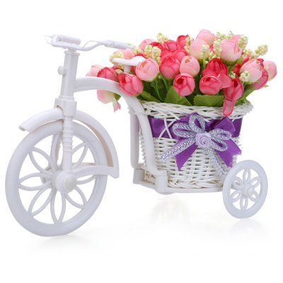 Cloth Artificial Flower Home Decoration Tricycle Bonsai