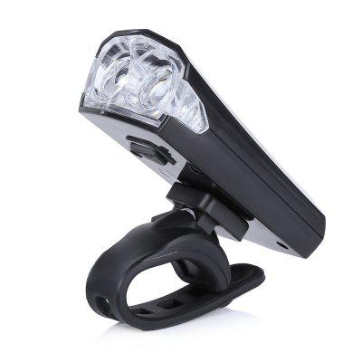 Bike 2 LEDs Safety USB Rechargeable Bright Front Head Light